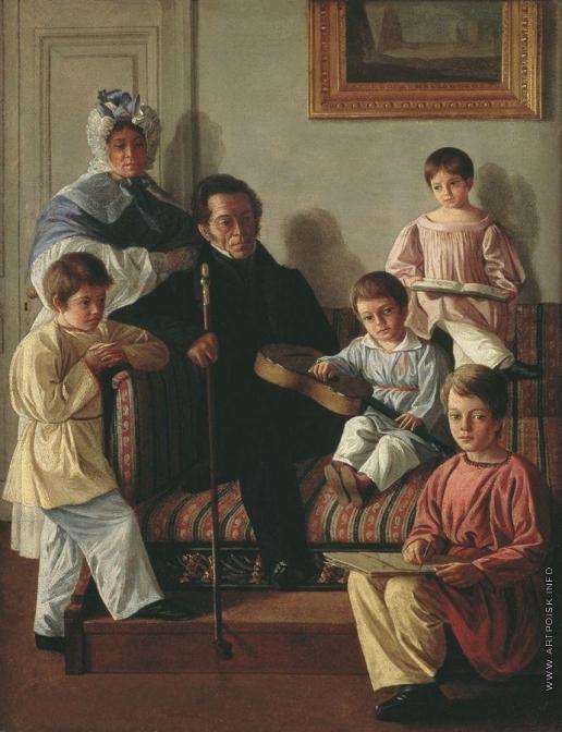 Крендовский Е. Ф. Портрет Александра Александровича Башилова с семьей