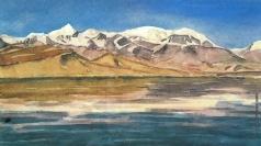 Абалаков Е. М. Панорама озера Кара-Куль