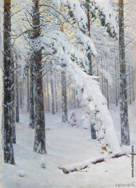 Крыжицкий К. Я. Лес зимой