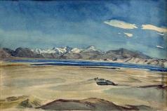 Абалаков Е. М. Памир. Панорама озера Кара-Куль