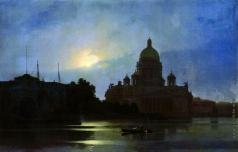 Куинджи А. И. Вид Исаакиевского собора при лунном освещении