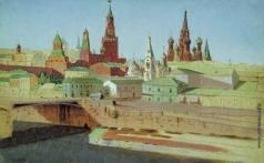 Куинджи А. И. Вид на Москворецкий мост, Кремль и храм Василия Блаженного