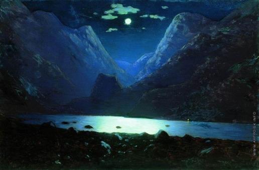 Куинджи А. И. Дарьяльское ущелье. Лунная ночь. 1890-