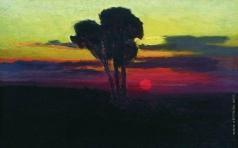 Куинджи А. И. Закат с деревьями