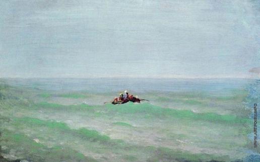 Куинджи А. И. Лодка в море. Крым. До