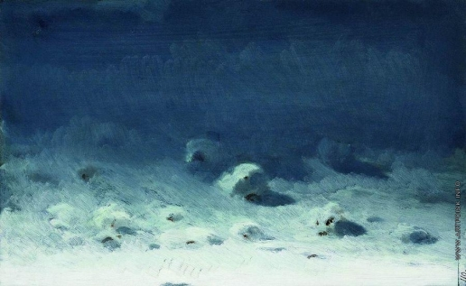 Куинджи А. И. Лунная ночь. Зима