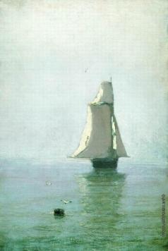 Куинджи А. И. Море с парусным кораблем. 1876-