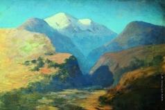 Куинджи А. И. Снежные вершины гор. Кавказ. 1890-