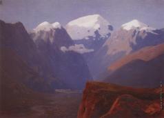 Куинджи А. И. Снежные вершины. Кавказ. 1890-