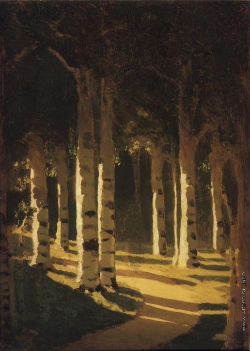 Куинджи А. И. Солнечный свет в парке. 1898-
