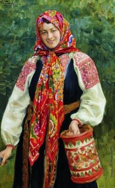 Куликов И. С. Девушка с туесом