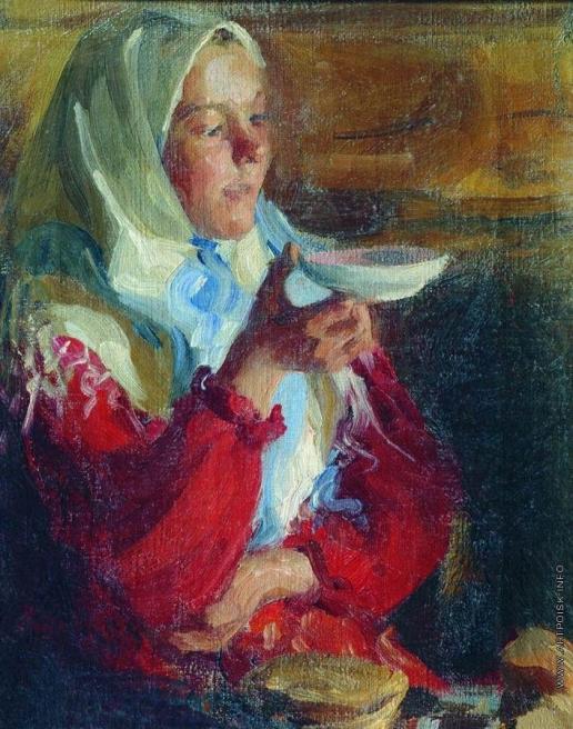 Куликов И. С. Крестьянка с блюдцем