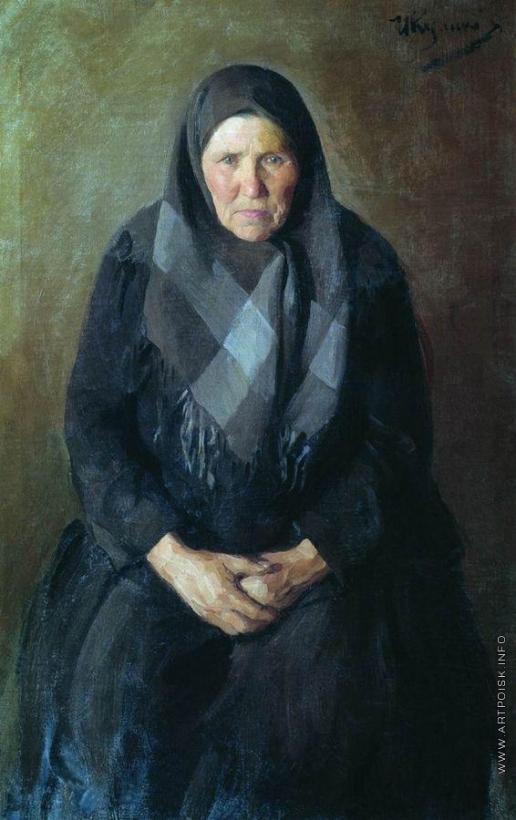 Куликов И. С. Портрет матери