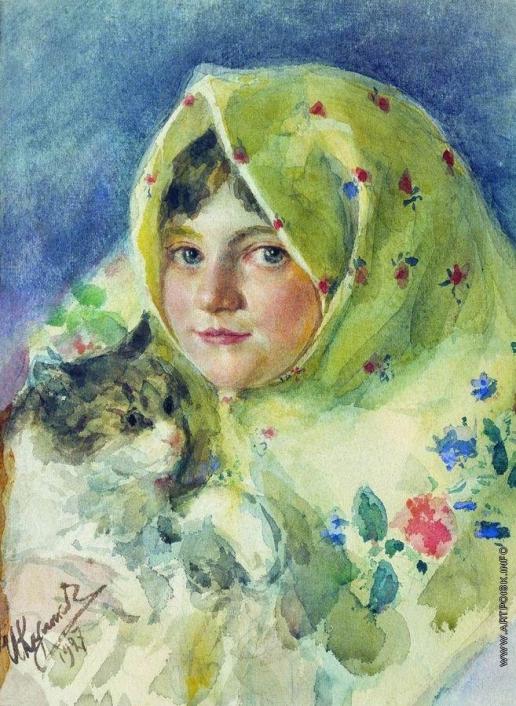 Куликов И. С. Таня с кошкой