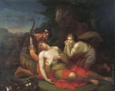 Курляндцев С. С. Эрминия и Вафрин находят раненого Танкреда