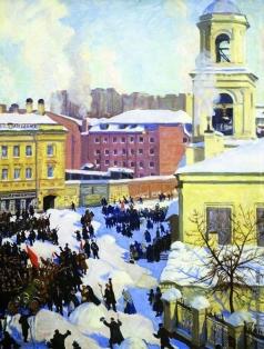 Кустодиев Б. М. 27 февраля 1917 года