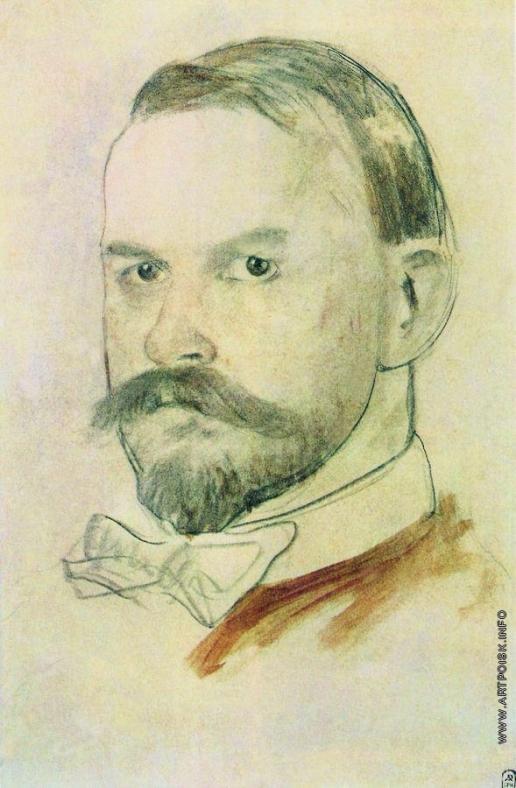 Кустодиев Б. М. Автопортрет