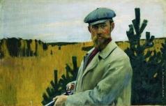 Кустодиев Б. М. Автопортрет (На охоте)