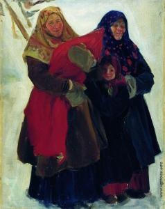 Кустодиев Б. М. Бабы
