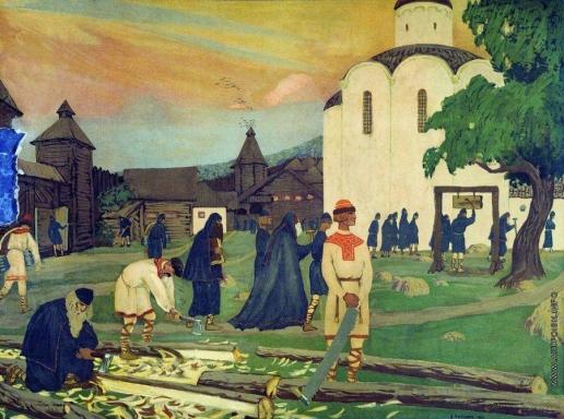 Кустодиев Б. М. В монастыре