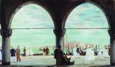 Кустодиев Б. М. Венеция. Воспоминание