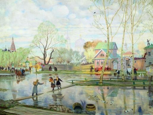Кустодиев Б. М. Весна