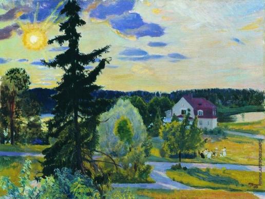 Кустодиев Б. М. Вечерний пейзаж