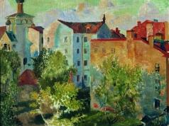 Кустодиев Б. М. Вид из окна