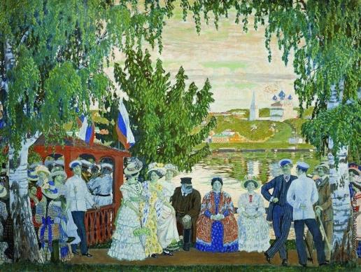 Кустодиев Б. М. Гулянье