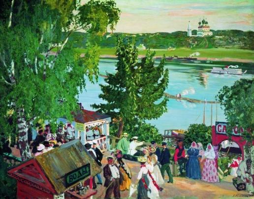 Кустодиев Б. М. Гулянье на Волге