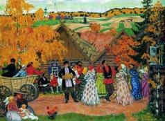 Кустодиев Б. М. Деревенский праздник (Осенний сельский праздник)