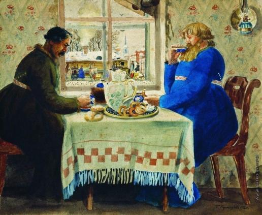 Кустодиев Б. М. Извозчики