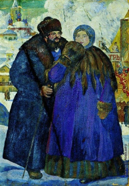 Кустодиев Б. М. Купец с купчихой