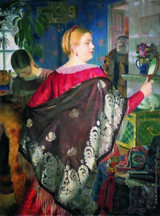 Кустодиев Б. М. Купчиха с зеркалом