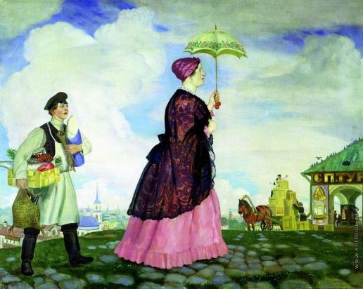 Кустодиев Б. М. Купчиха с покупками