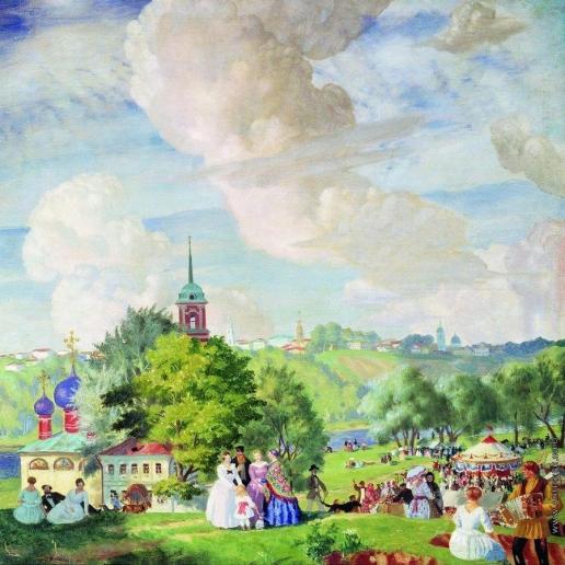 Кустодиев Б. М. Летний праздник