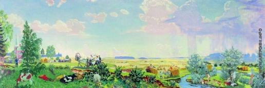 Кустодиев Б. М. Лето (Поездка в «Терем»)