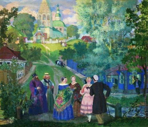 Кустодиев Б. М. Лето. Провинция