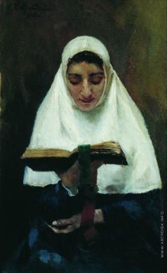 Кустодиев Б. М. Монахиня
