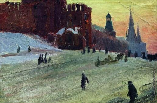 Кустодиев Б. М. Москва. Красная площадь