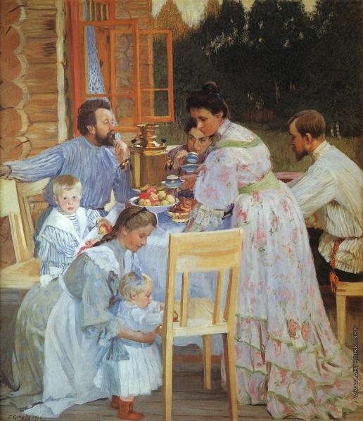 Кустодиев Б. М. На террасе