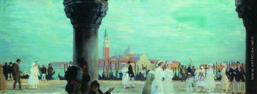 Кустодиев Б. М. Набережная Венеции