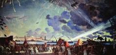 Кустодиев Б. М. Ночной праздник на Неве