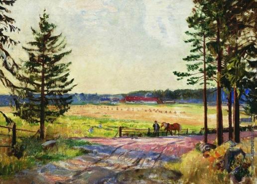 Кустодиев Б. М. Пашня