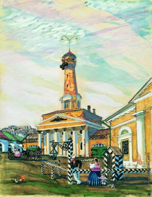 Кустодиев Б. М. Площадь в Крутогорске