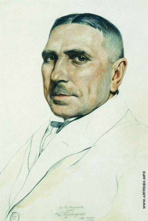 Кустодиев Б. М. Портрет И.М.Маркова