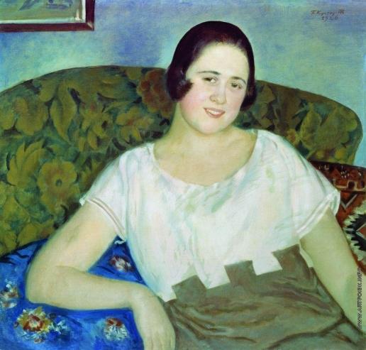 Кустодиев Б. М. Портрет И.Н.Ивановой