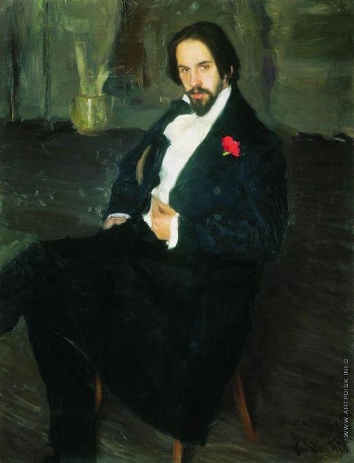 Кустодиев Б. М. Портрет И.Я.Билибина