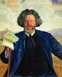 Кустодиев Б. М. Портрет М.А.Волошина