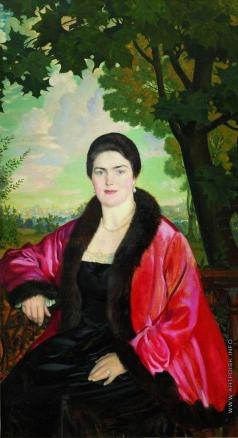 Кустодиев Б. М. Портрет М.В.Шаляпиной